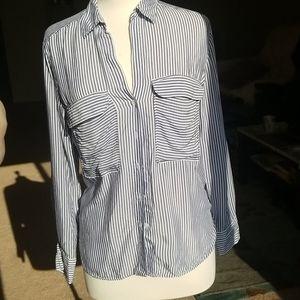 Zara button down striped